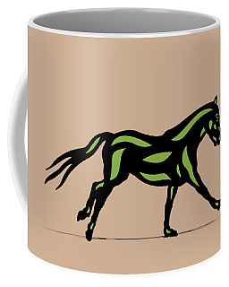 Clementine - Pop Art Horse - Black, Geenery, Hazelnut Coffee Mug