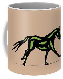 Clementine - Pop Art Horse - Black, Geenery, Hazelnut Coffee Mug