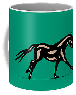 Clementine - Pop Art Horse - Black, Hazelnut, Emerald Coffee Mug