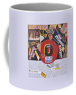 Coffee Mug featuring the painting Cleveland Cavaliers 2016 Champs by Colleen Taylor