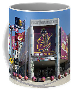 Coffee Mug featuring the photograph Cleveland Cavaliers The Q by Dale Kincaid