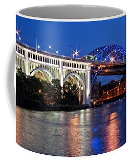 Cleveland Colored Bridges Coffee Mug
