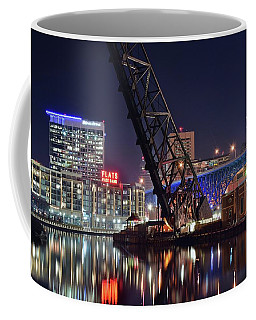 Coffee Mug featuring the photograph Cleveland Flats East Bank by Frozen in Time Fine Art Photography