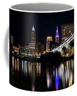 Coffee Mug featuring the photograph Cleveland In The World Series 2016 by Dale Kincaid