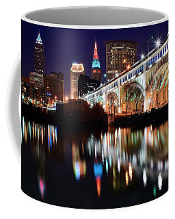 Cleveland Ohio Skyline Coffee Mug by Frozen in Time Fine Art Photography