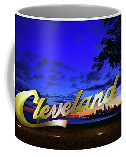 Cleveland Sign Sunrise Coffee Mug