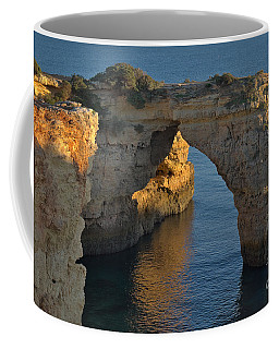 Cliff Arch In Albandeira Beach During Sunset 2 Coffee Mug by Angelo DeVal