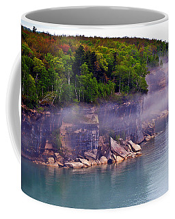 Coffee Mug featuring the photograph Cliff Fog by SimplyCMB