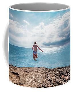 Cliff Jumping Coffee Mug