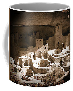 Coffee Mug featuring the photograph Cliff Palace Mesa Verde by Kurt Van Wagner