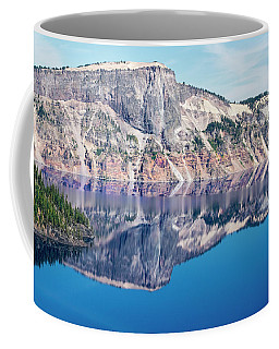 Cliff Rim Of Crater Lake Coffee Mug