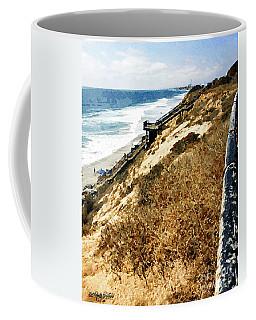 Cliff View - Carlsbad Ponto Beach Coffee Mug