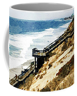 Cliff View - Carlsbad Ponto Beach Coffee Mug