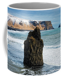 Coffee Mug featuring the photograph Cliffs And Ocean In Iceland Reynisfjara by Matthias Hauser