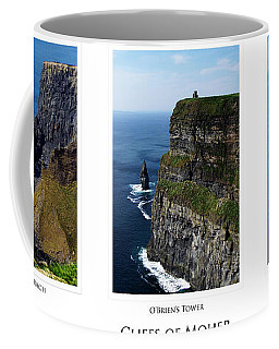 Cliffs Of Moher Ireland Triptych Coffee Mug