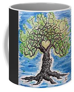 Coffee Mug featuring the drawing Climb-on Love Tree by Aaron Bombalicki