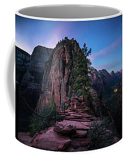 Coffee Mug featuring the photograph Climbing Angels Landing by James Udall