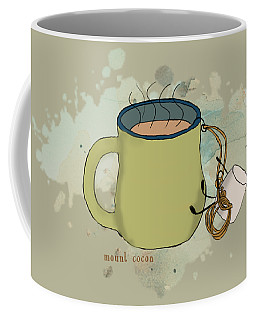 Climbing Mt Cocoa Illustrated Coffee Mug by Heather Applegate
