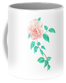 Coffee Mug featuring the painting Climbing Rose by Elizabeth Lock