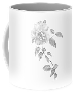 Coffee Mug featuring the painting Climbing Rose II by Elizabeth Lock