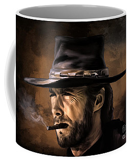 Coffee Mug featuring the digital art Clint by Andrzej Szczerski