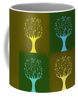 Coffee Mug featuring the mixed media Clip Art Trees by Dan Sproul