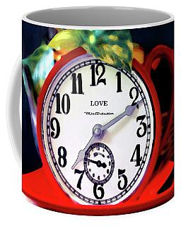 Clock In The Garden Painting  Coffee Mug