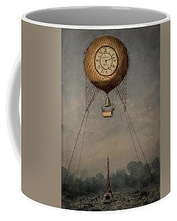 Clock Over Paris Coffee Mug
