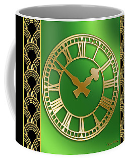 Coffee Mug featuring the digital art Clock With Border by Chuck Staley