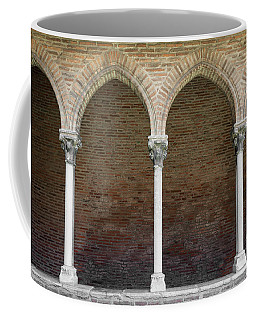 Coffee Mug featuring the photograph Cloister With Arched Colonnade by Elena Elisseeva
