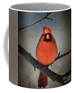 Coffee Mug featuring the photograph Close Encounter On A Blustery Day by Lois Bryan