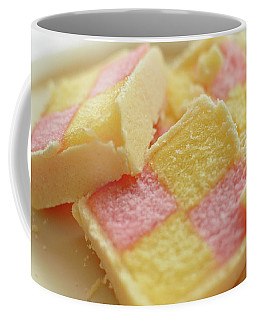 Close Up Of Battenberg Cake E Coffee Mug