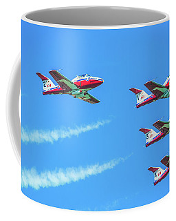 Close-up Of Canadian Snowbirds Over Horseshoe Falls Coffee Mug