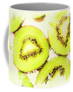 Close Up Of Kiwi Slices Coffee Mug