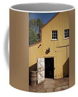 Close Up Of Landis Valley Yellow Barn Coffee Mug