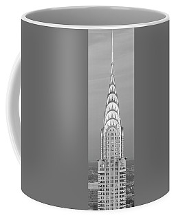 Close Up Of The Chrysler Building At Sunset. It Is The View From 42nd Street And 5th Avenue. Coffee Mug