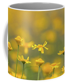 Close Up Of Yellow Flower With Blur Background Coffee Mug
