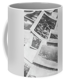 Close Up On Old Black And White Photographs Coffee Mug