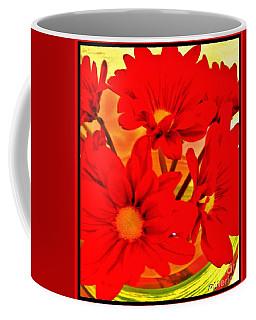 Close Up Red Gerbers Coffee Mug by Marsha Heiken