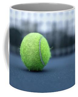 Close Up Tennis Ball Coffee Mug