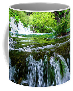 Close Up Waterfalls - Plitvice Lakes National Park, Croatia Coffee Mug