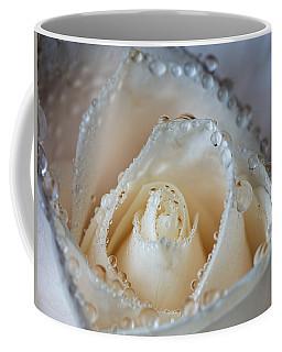 Close Up White Rose Coffee Mug