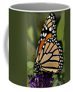 Close View Of A Monarch Butterfly Coffee Mug