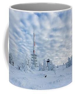 Closer To The Sky - Brocken Peak In Winter Coffee Mug