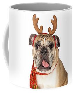 Closeup Of Christmas Reindeer Dog Coffee Mug
