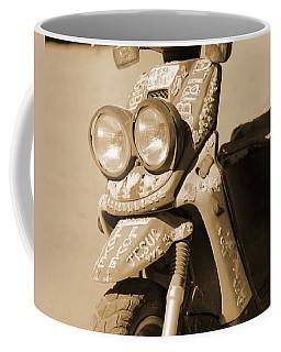 Closeup Of Jesus Scooter In Sepia Coffee Mug