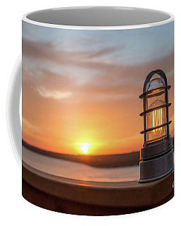 Closeup Of Light With Sunset In The Background Coffee Mug