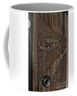 Closeup Of Sig Sauer Pistol Grip Coffee Mug