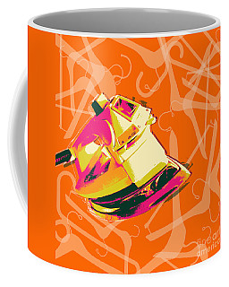 Coffee Mug featuring the digital art Flat Iron  by Jean luc Comperat