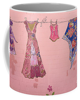 Clothes Line Mural Burlington Vermont Coffee Mug